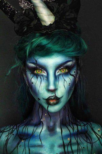 Dark Unicorn Makeup Idea #darkunicorn