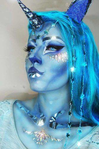 Blue Fantasy Unicorn Makeup #blueunicorn