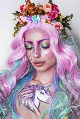 Cute Unicorn Makeup #crystalsmakeup