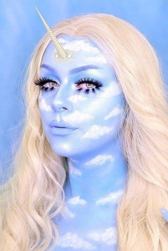 Blue Unicorn Face Art #skyunicorn