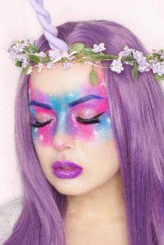 Galaxy Unicorn Makeup #galaxyunicorn
