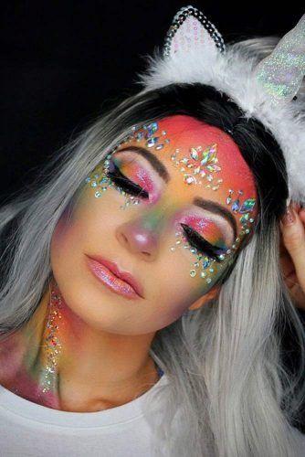 Rainbow Crystals Makeup #rainbowmakeup