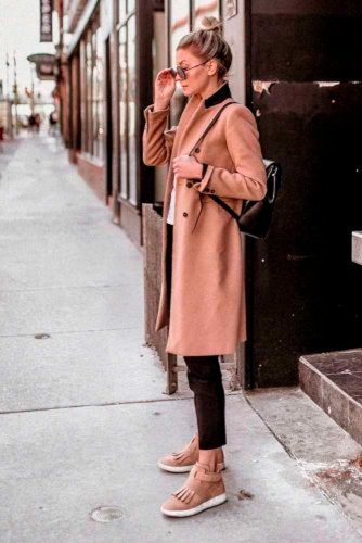 Coat And Boots: Perfect Fall Combination #stylishlook #casualoutfits