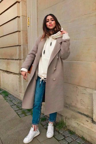 Comfortable Look With Hoody And Coat #falloutfit #casualoutfits