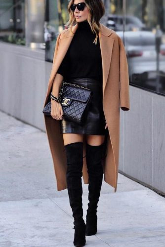 Mini Skirt Look to Update Your Fall Sexy Outfits