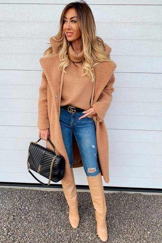 Matching Plush Coat And Boots #plushcoat