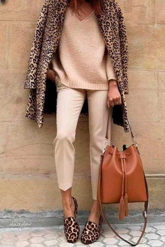 Comfy Outfit With Leopard Print #stylishlook #casualoutfits