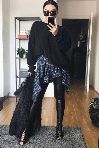 Comfy Fall Outfits with Flannel Shirts picture 3