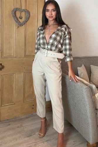 High Waisted Pants With Flannel Shirt #highwaistedpants