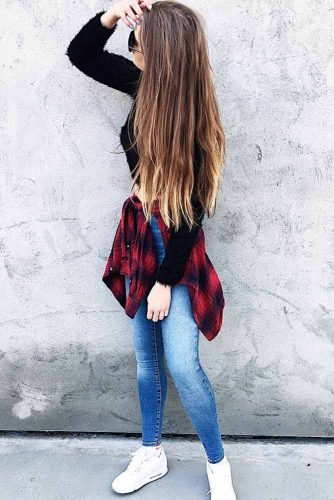 Comfy Fall Outfits with Flannel Shirts picture 4