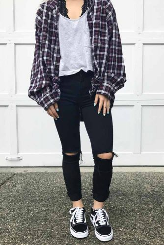 Newest Flannel Fall Outfits picture 1