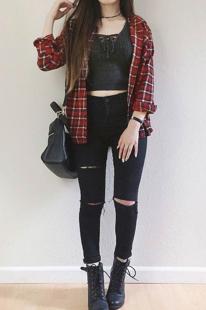 Newest Flannel Fall Outfits picture 2