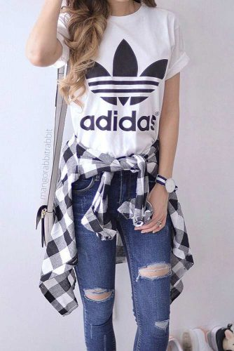 Comfy Fall Outfits with Flannel Shirts picture 6