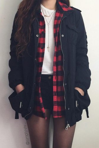 Popular Outfit Looks with a Flannel Shirt picture 2