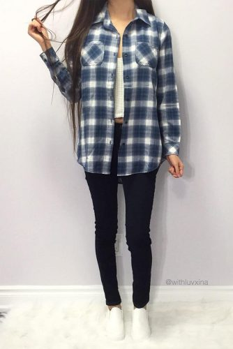 Newest Flannel Fall Outfits picture 3