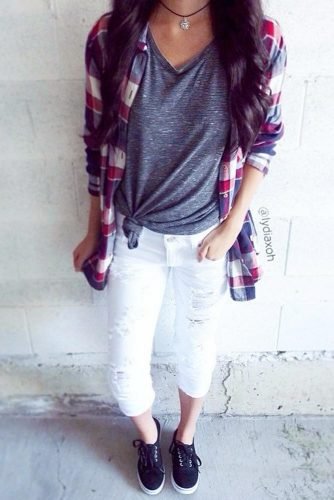 Newest Flannel Fall Outfits picture 6