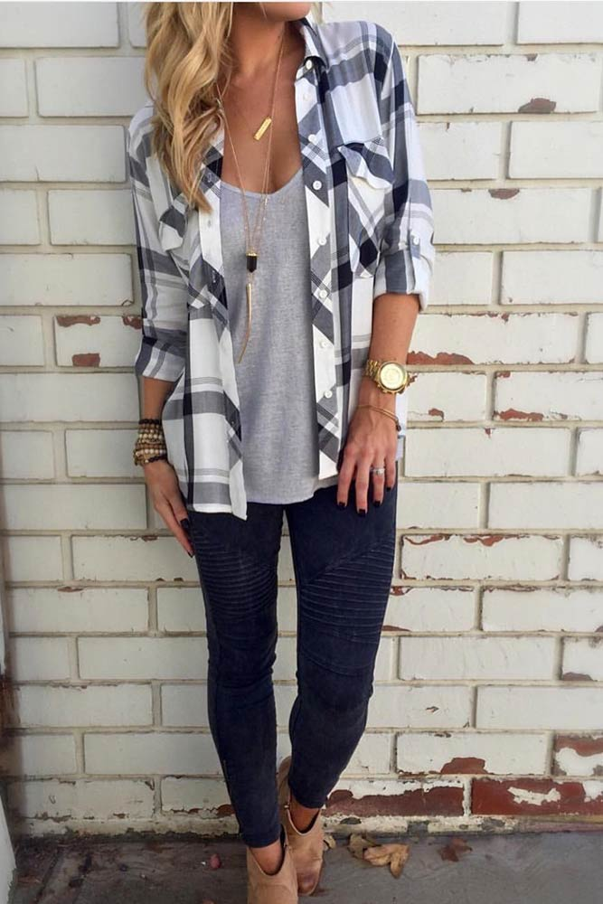 Newest Flannel Fall Outfits picture 5