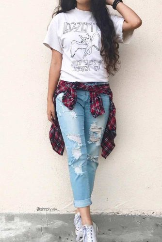 Comfy Fall Outfits with Flannel Shirts picture 2