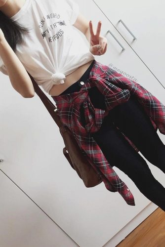 Comfy Fall Outfits with Flannel Shirts picture 5
