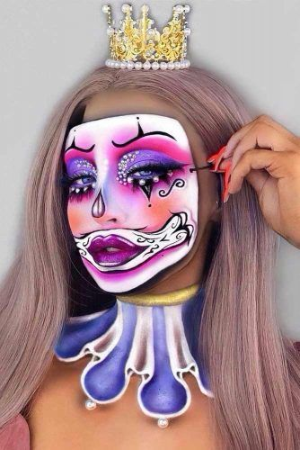 Clown Queen Makeup Idea #clownmakeup