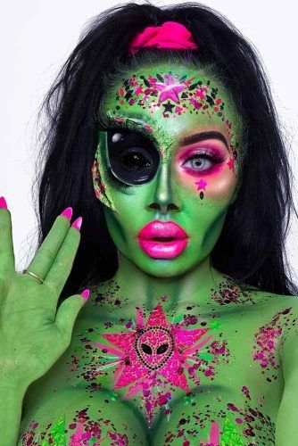 Alien Makeup Idea #alien #ufo