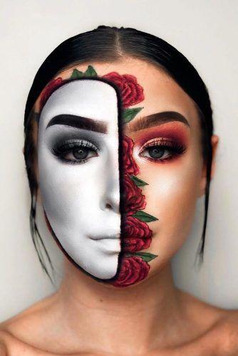 Half Face Floral Mask #floralmask