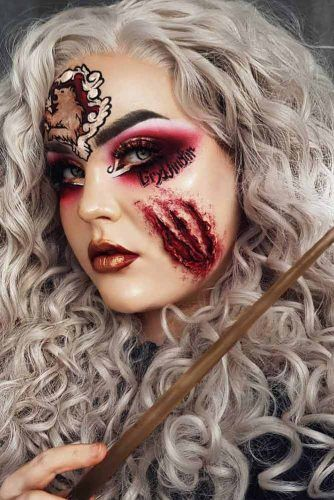 Harry Potter Halloween Makeup Idea #harrypotter