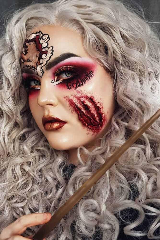 Harry Potter Halloween Makeup Idea #harrypotter