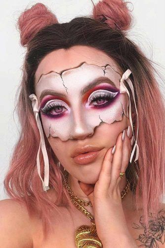 Porcelain Doll Mask Makeup #maskmakeup #dollmakeup
