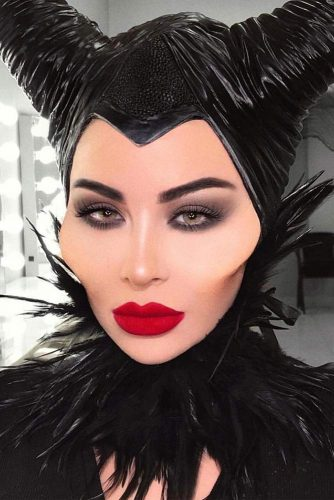 Malificent Makeup Idea #disney #maleficent