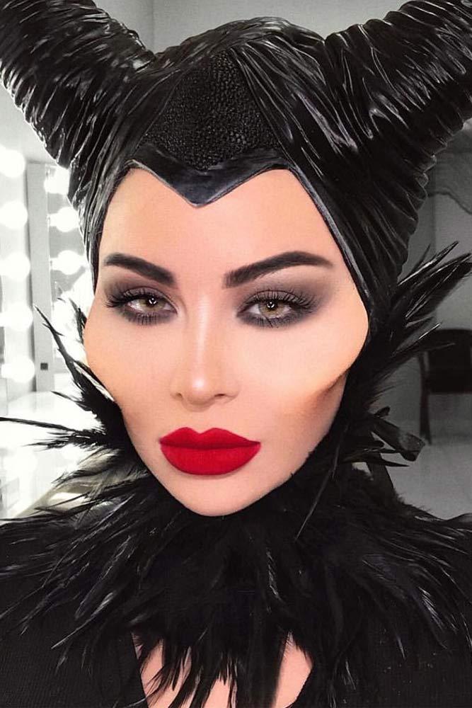 Malificent Makeup Idea #disney #maleficent