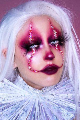 Penny Wise Makeup Idea #pennywise #sparklymakeup