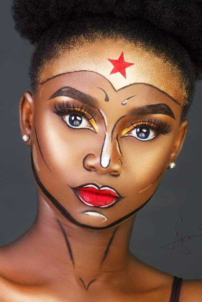 Wonder Woman Makeup Idea #wonderwoman