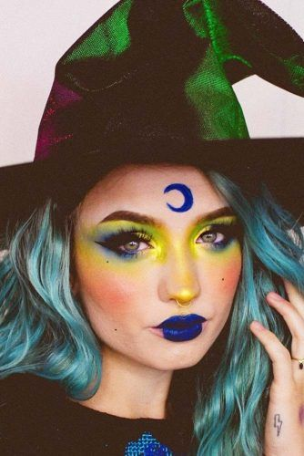 Witch Makeup Idea #witch #witchhat