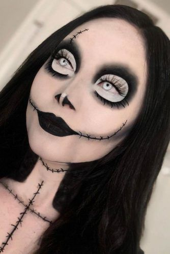Blacvk Skull Makeup Idea #blackskull