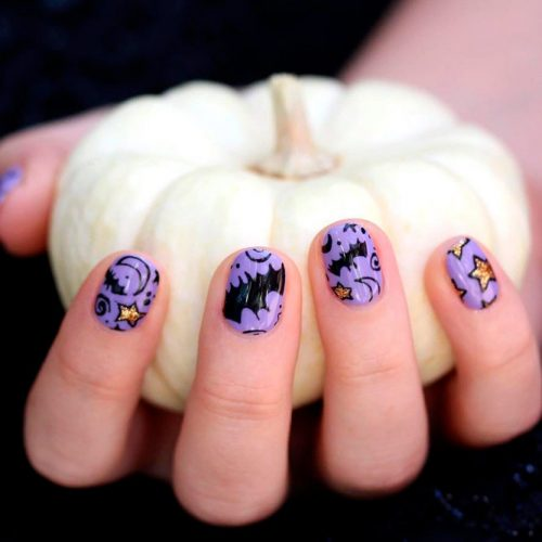 Fun And Bright Halloween Night #funnynails #scarynails