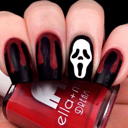 Scary Movie #blacknails #scarynails