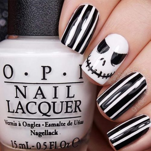Patterned Skellington Creative Nails
