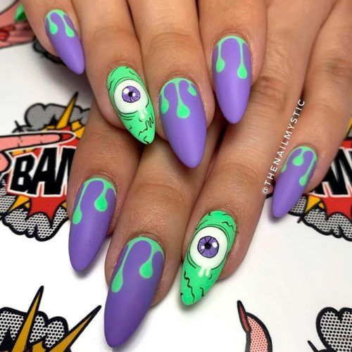 Funny Monter's Eyes #funnynails