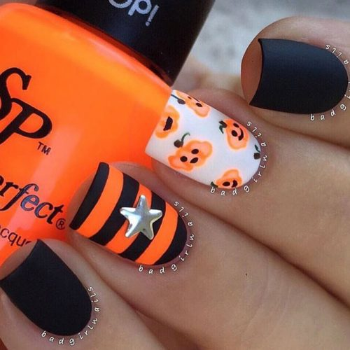 Pumpkin Matte Nails Mix