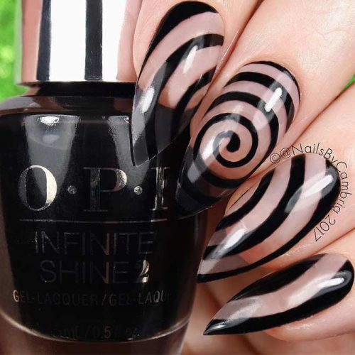 Easy Patterned Stilleto Nails
