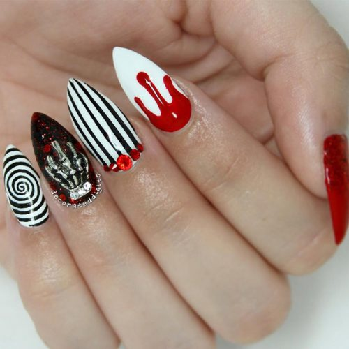 Creepy Hand Stiletto Nails