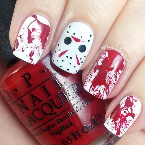 Blood Splatter Easy Nail Art