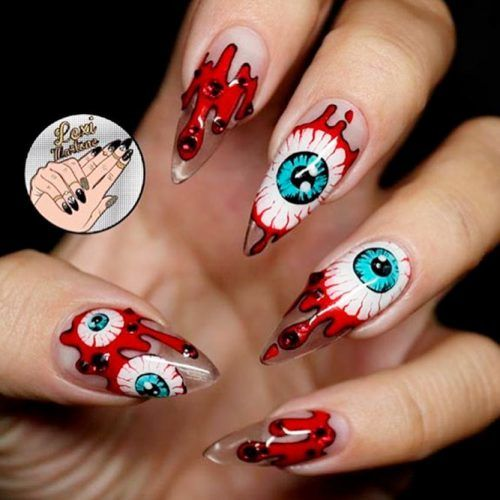 Fear Has Many Eyes #creepynails #scarynails