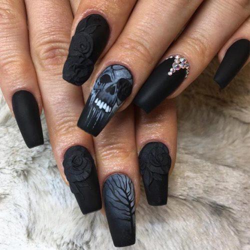 41 Cute And Creepy Halloween Nail Designs 2019