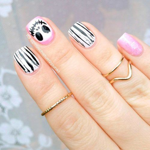 Pretty Jack Skeleton Nail Art #jackskeleton #funnynails