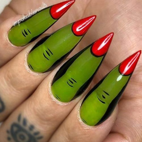 Witchy Fingers Nails Design #witchyfingers