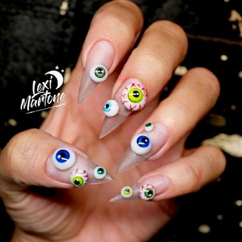 Creepy Eyes #creepynailart