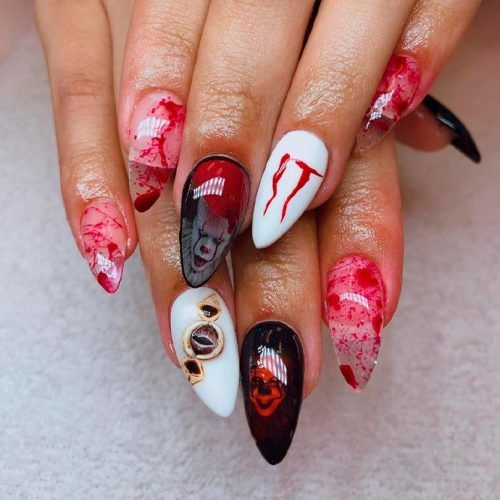 It Movie Nail Design #creepynails