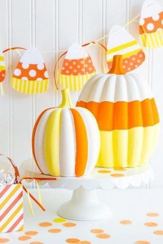 Candy Corn Pumpkin Decorations #candycorn